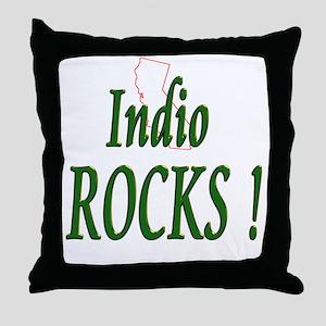 Indio Rocks ! Throw Pillow