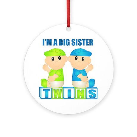 I'm A Big Sister (BBB:blk) Ornament (Round)