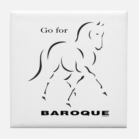 Go for Baroque Tile Coaster