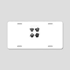 Pug Life Aluminum License Plate