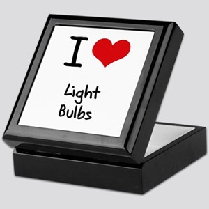 I Love Light Bulbs Keepsake Box
