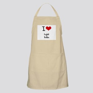 I Love Light Bulbs Apron