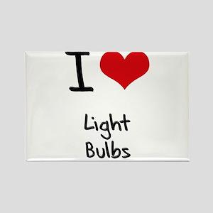 I Love Light Bulbs Rectangle Magnet