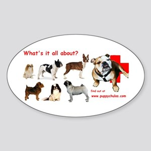 What's it all about? Oval Sticker