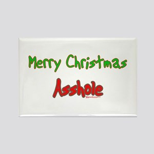 Merry Christmas Asshole -2 Rectangle Magnet