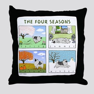 """The Four Seasons"" Throw Pillow"