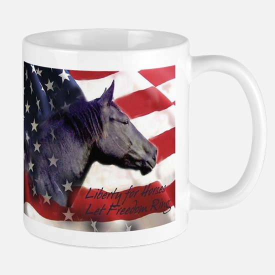 Liberty for Horses logo Mug