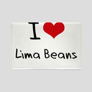 I Love Lima Beans Rectangle Magnet