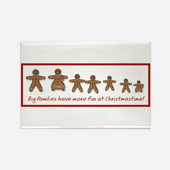 Large families Rectangle Magnet