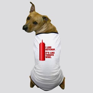 Ketchup Tomato Wine Dog T-Shirt