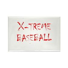 X-treme Baseball Rectangle Magnet