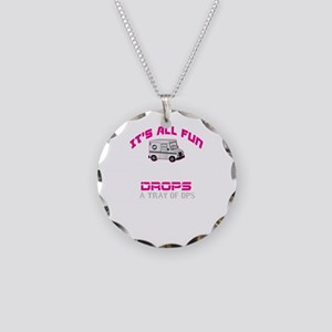 It's All Fun Necklace Circle Charm