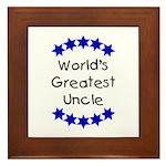 World's Greatest Uncle Framed Tile