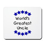 World's Greatest Uncle Mousepad