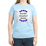World's Greatest Uncle Women's Pink T-Shirt