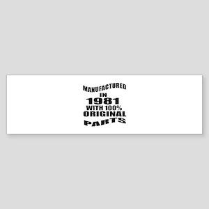Manufactured In 1981 Sticker (Bumper)
