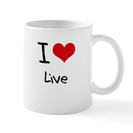 I Love Live Mug