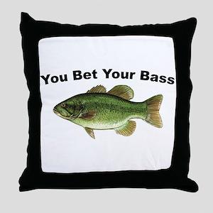 You Bet Your Bass Throw Pillow