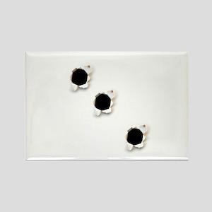 Bullet Holes Rectangle Magnet