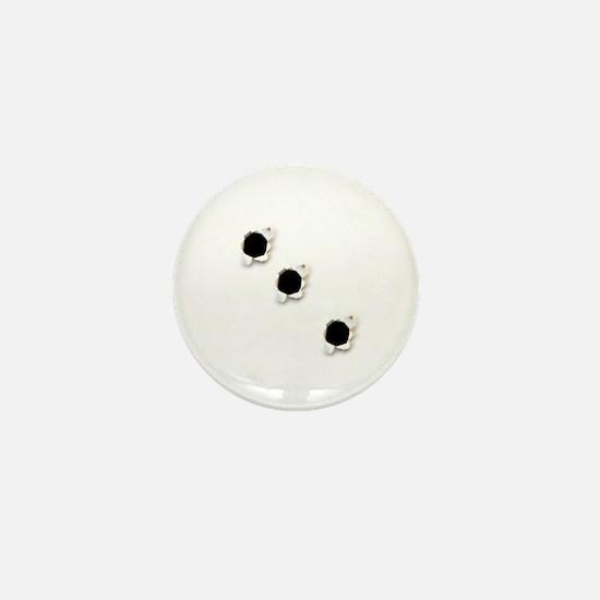 Bullet Holes Mini Button