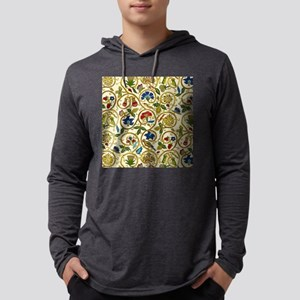Elizabethan Swirl Embroideries Mens Hooded Shirt