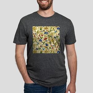 Elizabethan Swirl Embroider Mens Tri-blend T-Shirt