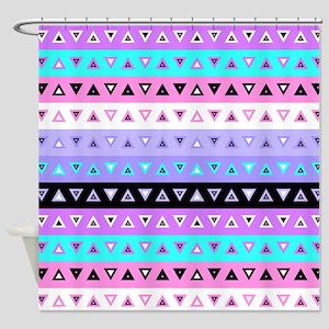 Triangles, Purple Shower Curtain