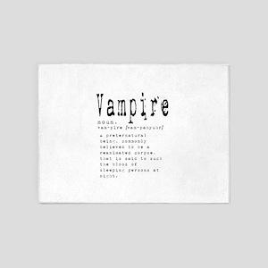 Vampire 5'x7'Area Rug