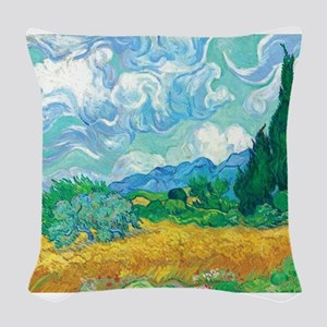 Van Gogh - A Wheatfield with Cypresses1 Woven