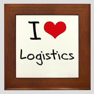 I Love Logistics Framed Tile
