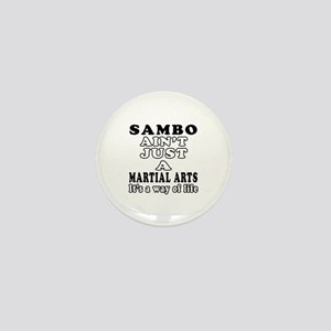 Sambo Martial Arts Designs Mini Button