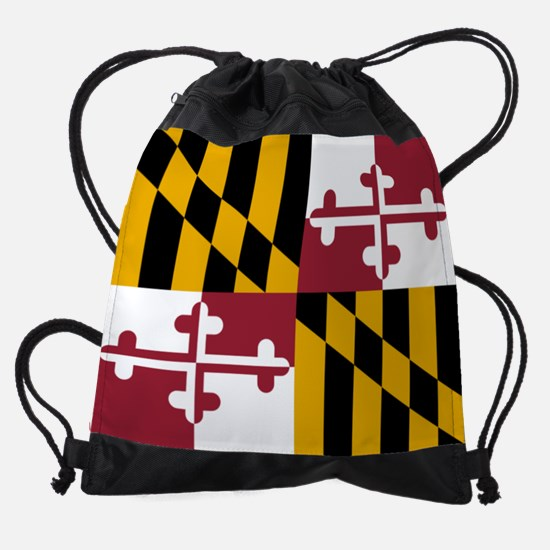 Flag of Maryland Drawstring Bag