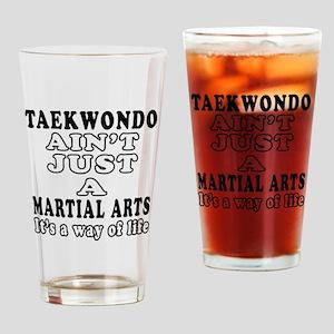Taekwondo Martial Arts Designs Drinking Glass