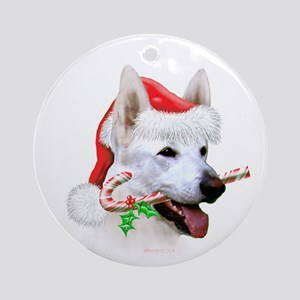 White Shep Ornament (Round)