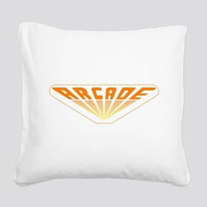 Arcade Square Canvas Pillow