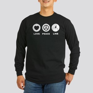 Horizontal Bar Long Sleeve Dark T-Shirt