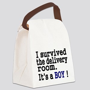 I survived the Delivery Room Canvas Lunch Bag