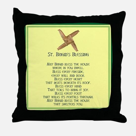 IRISH BLESSINGS- ST. BRIGID Throw Pillow