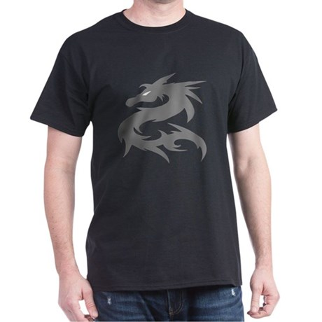 Silver Dragon Dark T-Shirt