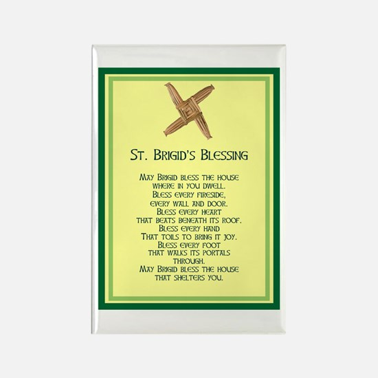 IRISH BLESSINGS- ST. BRIGID Rectangle Magnet