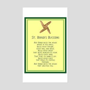 IRISH BLESSINGS- ST. BRIGID Rectangle Sticker