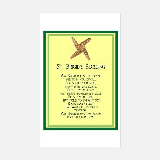 IRISH BLESSINGS- ST. BRIGID Rectangle Decal