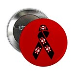 Pirate Awareness and Support Ribbon on a Red Pin