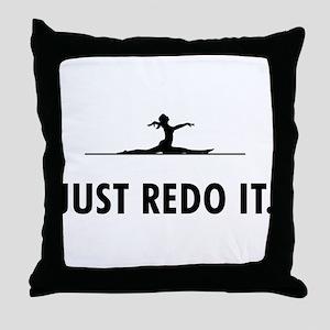 Floor Exercise Throw Pillow