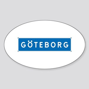 Road Marker Gothenburg - Sweden Oval Sticker
