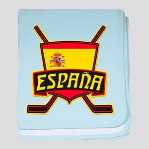 Spain Ice Hockey Shield baby blanket
