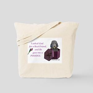Poodle (Black) Tote Bag