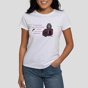 Poodle (Black) Women's T-Shirt