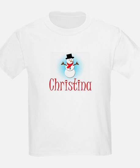 Snowman - Christina Kids T-Shirt
