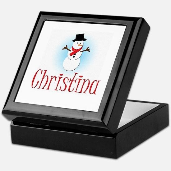 Snowman - Christina Keepsake Box